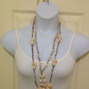 Two Long Pukka Shell Necklaces